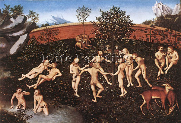 LUCAS CRANACH THE ELDER THE GOLDEN AGE ARTIST PAINTING REPRODUCTION HANDMADE OIL