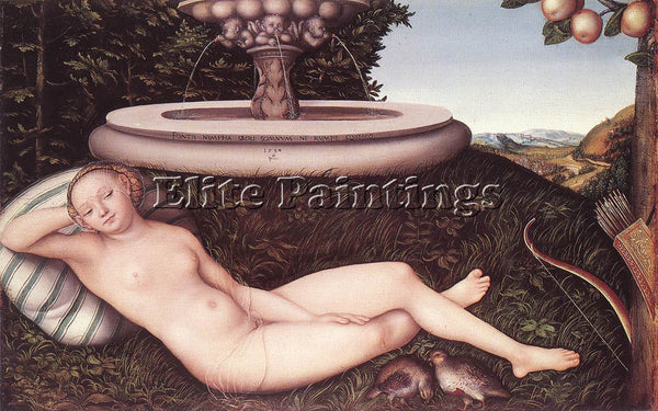 LUCAS CRANACH THE ELDER THE NYMPH OF THE FOUNTAIN ARTIST PAINTING REPRODUCTION