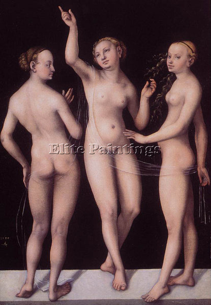 LUCAS CRANACH THE ELDER THE THREE GRACES ARTIST PAINTING REPRODUCTION HANDMADE