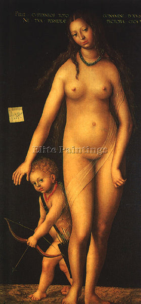 LUCAS CRANACH THE ELDER VENUS AND CUPID ARTIST PAINTING REPRODUCTION HANDMADE