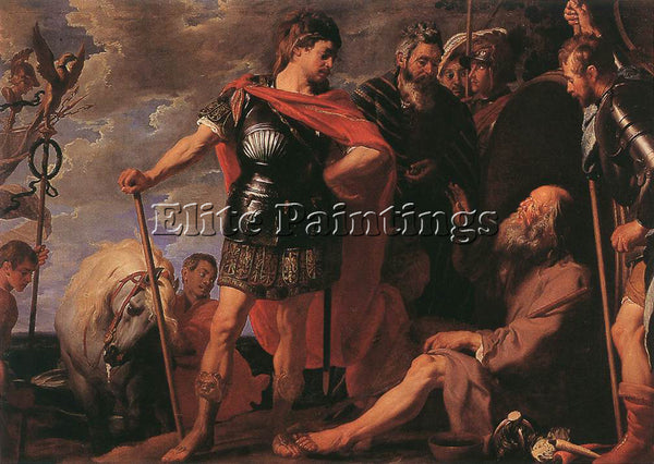 GASPARD DE CRAYER  ALEXANDER AND DIOGENES ARTIST PAINTING REPRODUCTION HANDMADE