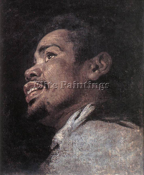 GASPARD DE CRAYER  HEAD STUDY OF A YOUNG MOOR ARTIST PAINTING REPRODUCTION OIL