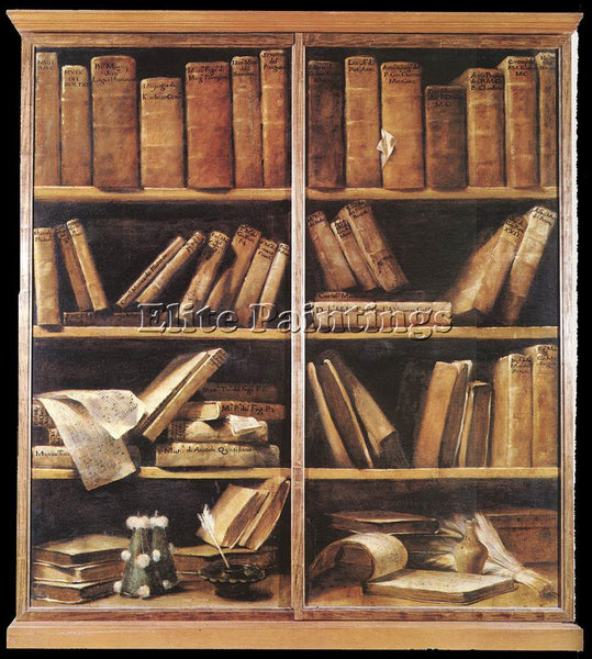 GIUSEPPE MARIA CRESPI  BOOKSHELVES ARTIST PAINTING REPRODUCTION HANDMADE OIL ART