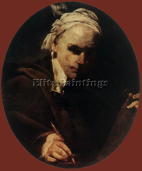 GIUSEPPE MARIA CRESPI  SELF PORTRAIT ARTIST PAINTING REPRODUCTION HANDMADE OIL
