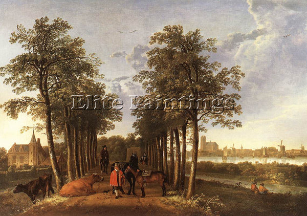 AELBERT CUYP THE AVENUE AT MEERDERVOORT ARTIST PAINTING REPRODUCTION HANDMADE