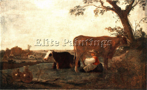 AELBERT CUYP THE DAIRY MAID ARTIST PAINTING REPRODUCTION HANDMADE OIL CANVAS ART