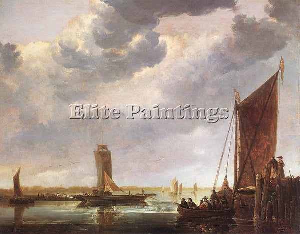 AELBERT CUYP THE FERRY BOAT ARTIST PAINTING REPRODUCTION HANDMADE OIL CANVAS ART
