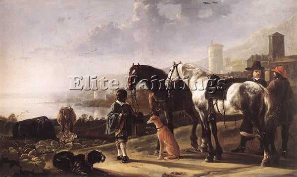 AELBERT CUYP THE NEGRO PAGE ARTIST PAINTING REPRODUCTION HANDMADE OIL CANVAS ART