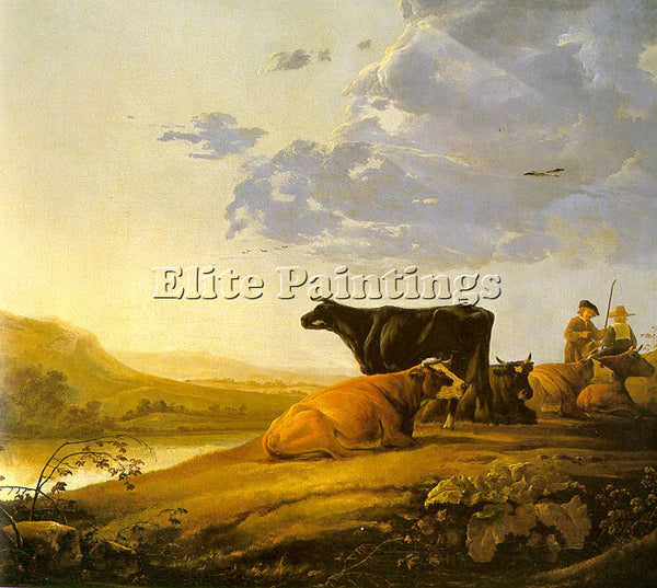 AELBERT CUYP YOUNG HERDSMAN WITH COWS ARTIST PAINTING REPRODUCTION HANDMADE OIL