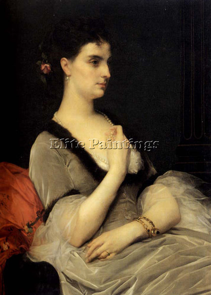 ALEXANDRE CABANEL  PORTRAIT OF COUNTESS E A VORONTSOVA DASHKOVA ARTIST PAINTING