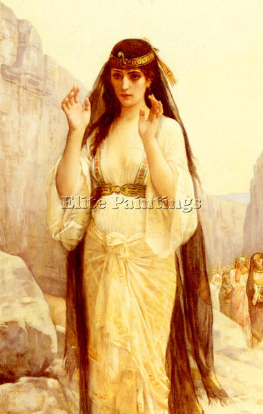 ALEXANDRE CABANEL  THE DAUGHTER OF JEPHTHAH ARTIST PAINTING HANDMADE OIL CANVAS