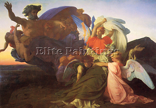 ALEXANDRE CABANEL  THE DEATH OF MOSES 1851 ARTIST PAINTING REPRODUCTION HANDMADE