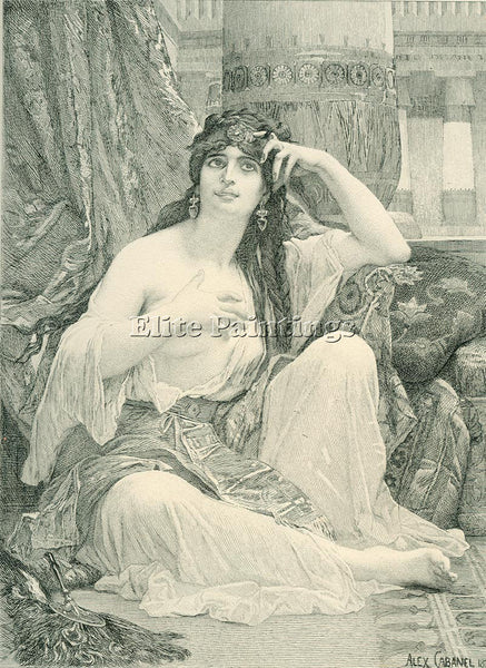 ALEXANDRE CABANEL  THE SULAMITE ENGRAVING ARTIST PAINTING REPRODUCTION HANDMADE