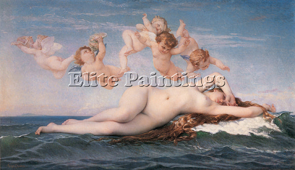 ALEXANDRE CABANEL THE BIRTH OF VENUS 1863 ARTIST PAINTING REPRODUCTION HANDMADE