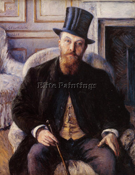 GUSTAVE CAILLEBOTTE PORTRAIT OF JULES DUBOIS ARTIST PAINTING HANDMADE OIL CANVAS
