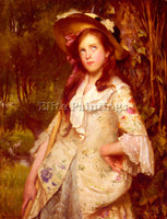 BRITISH CALKIN LANCE THE YOUNG SHEPHERDESS ARTIST PAINTING REPRODUCTION HANDMADE
