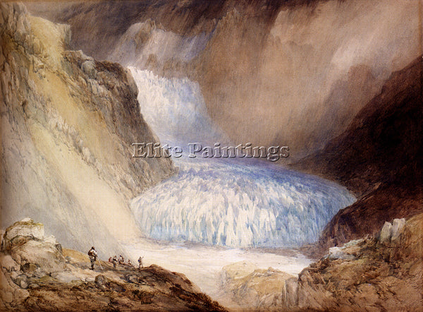 BRITISH CALLOW WILLIAM GLACIER DU RHONE AND THE GARLINGSTOCK ARTIST PAINTING OIL
