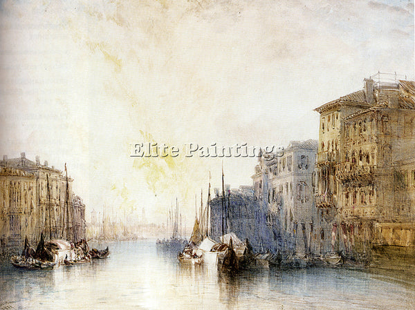 BRITISH CALLOW WILLIAM THE GRAND CANAL VENICE ARTIST PAINTING REPRODUCTION OIL