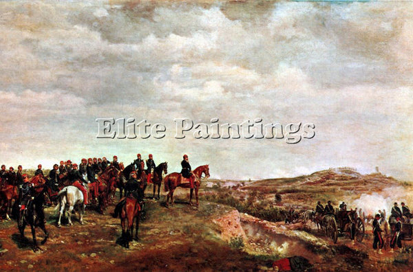 JEAN-LOUIS ERNEST MEISSONIER CAMPAIGN ARTIST PAINTING REPRODUCTION HANDMADE OIL