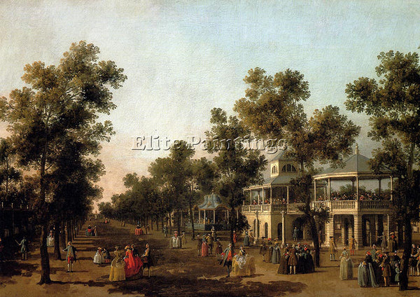 CANALETTO CANAL VIEW GRAND WALK VAUXHALL GARDENS WITH ORCHESTRA PAVILION ARTIST