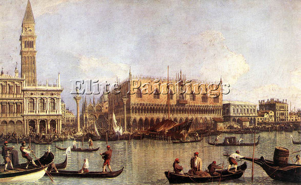 CANALETTO  PALAZZO DUCALE AND THE PIAZZA DI SAN MARCO ARTIST PAINTING HANDMADE