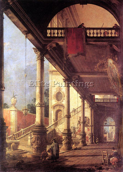 CANALETTO  PERSPECTIVE ARTIST PAINTING REPRODUCTION HANDMADE CANVAS REPRO WALL