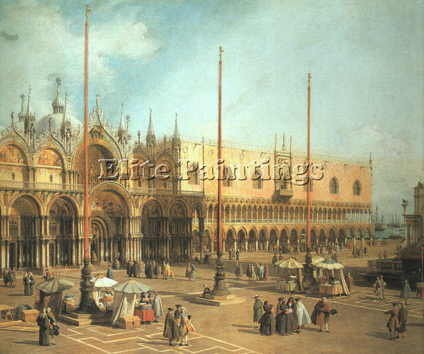 CANALETTO  PIAZZA SAN MARCO LOOKING SOUTHEAST ARTIST PAINTING REPRODUCTION OIL