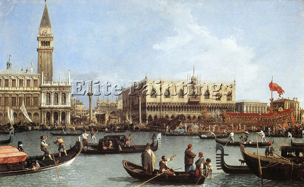 CANALETTO  RETURN OF THE BUCENTAURN TO THE MOLO ON ASCENSION DAY ARTIST PAINTING