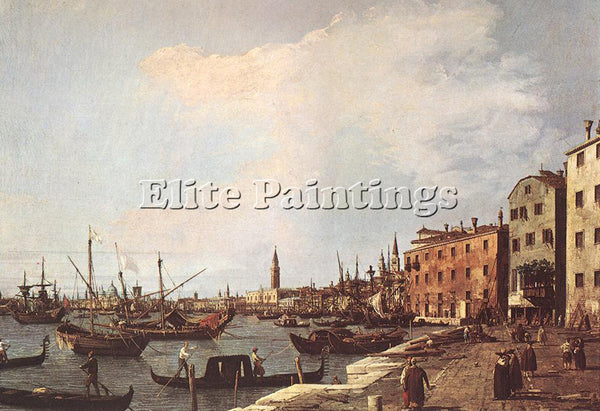 CANALETTO  RIVA DEGLI SCHIAVONI WEST SIDE ARTIST PAINTING REPRODUCTION HANDMADE
