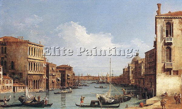 CANALETTO  THE GRAND CANAL FROM CAMPO S VIO TOWARDS THE BACINO PAINTING HANDMADE