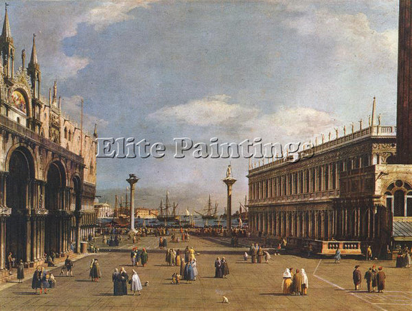 CANALETTO  THE PIAZZETTA ARTIST PAINTING REPRODUCTION HANDMADE CANVAS REPRO WALL