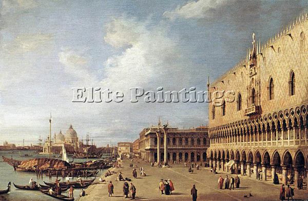 CANALETTO  VIEW OF THE DUCAL PALACE ARTIST PAINTING REPRODUCTION HANDMADE OIL