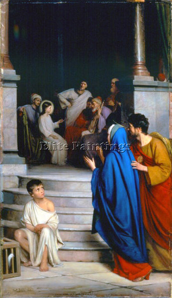 DENMARK CARL HEINRICH BLOCH CHRIST TEACHING AT THE TEMPLE ARTIST PAINTING CANVAS