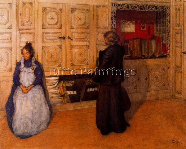 CARL LARSSON LARSS27 ARTIST PAINTING REPRODUCTION HANDMADE OIL CANVAS REPRO WALL