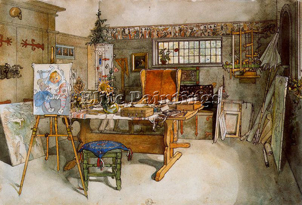 CARL LARSSON LARSS14 ARTIST PAINTING REPRODUCTION HANDMADE OIL CANVAS REPRO WALL