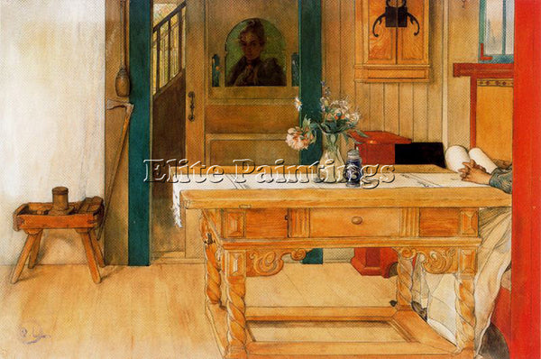 CARL LARSSON LARSS19 ARTIST PAINTING REPRODUCTION HANDMADE OIL CANVAS REPRO WALL
