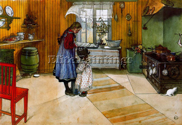 CARL LARSSON LARSS21 ARTIST PAINTING REPRODUCTION HANDMADE OIL CANVAS REPRO WALL
