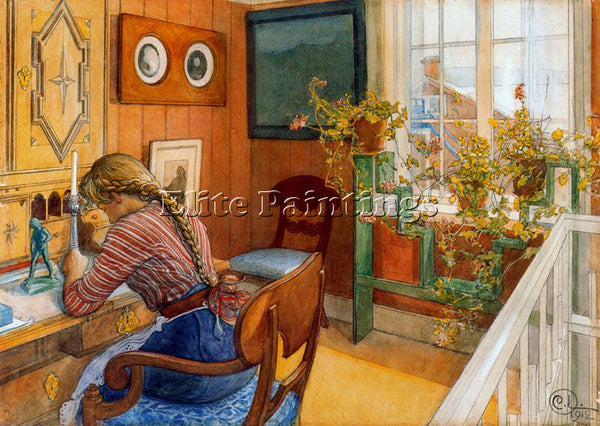 CARL LARSSON LARSS24 ARTIST PAINTING REPRODUCTION HANDMADE OIL CANVAS REPRO WALL