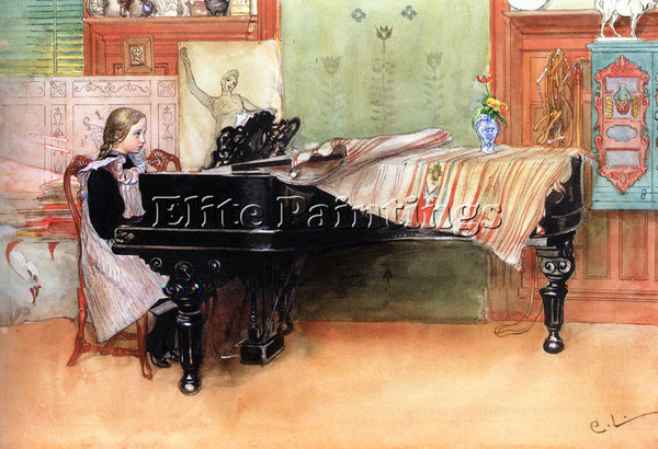 CARL LARSSON SKALORNA PLAYING SCALES ARTIST PAINTING REPRODUCTION HANDMADE OIL