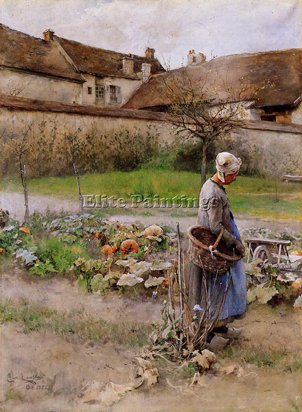 CARL LARSSON OCTOBER AKA THE PUMPKINS ARTIST PAINTING REPRODUCTION HANDMADE OIL