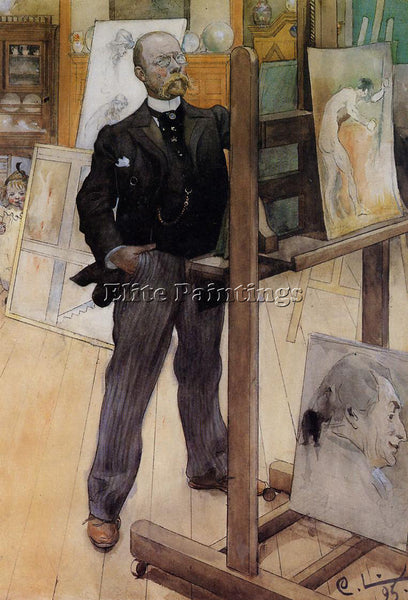 CARL LARSSON SELF PORTRAIT ARTIST PAINTING REPRODUCTION HANDMADE OIL CANVAS DECO