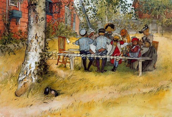 CARL LARSSON LARSS29 ARTIST PAINTING REPRODUCTION HANDMADE OIL CANVAS REPRO WALL