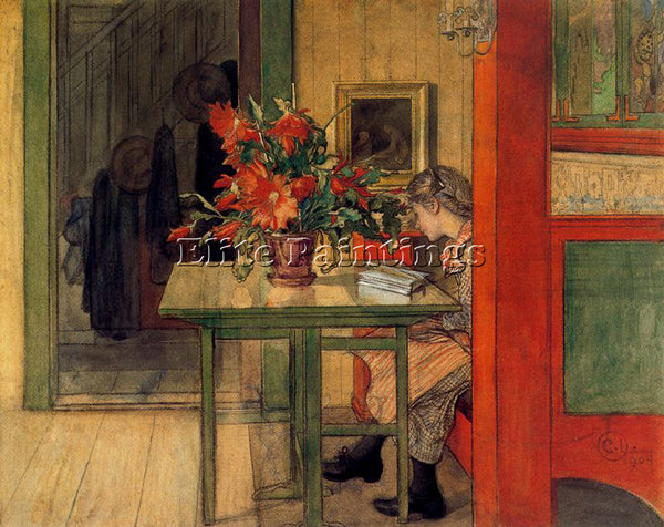 CARL LARSSON LARSS33 ARTIST PAINTING REPRODUCTION HANDMADE OIL CANVAS REPRO WALL