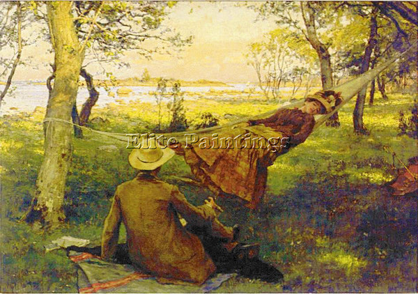 CARL LARSSON LARSS34 ARTIST PAINTING REPRODUCTION HANDMADE OIL CANVAS REPRO WALL