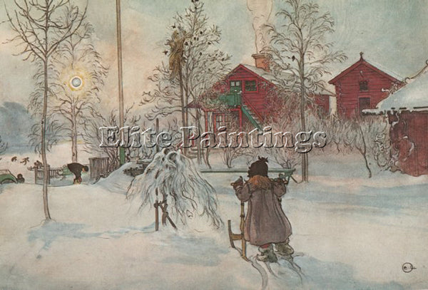 CARL LARSSON LARSS35 ARTIST PAINTING REPRODUCTION HANDMADE OIL CANVAS REPRO WALL