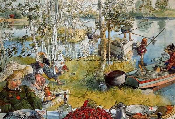 CARL LARSSON LARSS37 ARTIST PAINTING REPRODUCTION HANDMADE OIL CANVAS REPRO WALL
