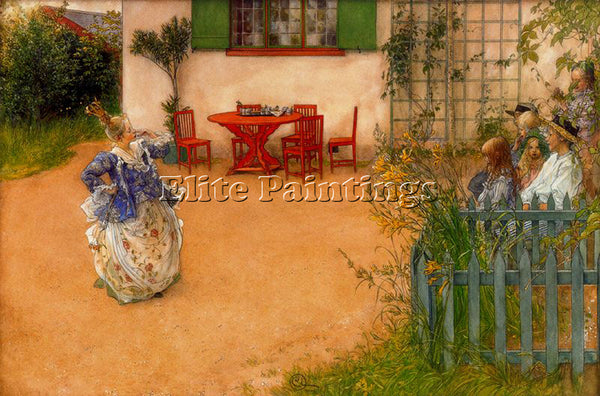CARL LARSSON LARSS38 ARTIST PAINTING REPRODUCTION HANDMADE OIL CANVAS REPRO WALL