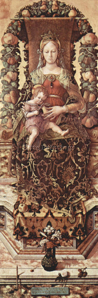 CARLO CRIVELLI CRIV12 ARTIST PAINTING REPRODUCTION HANDMADE OIL CANVAS REPRO ART