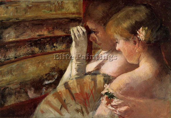 MARY CASSATT A CORNER OF THE LOGE AKA IN THE BOX ARTIST PAINTING HANDMADE CANVAS