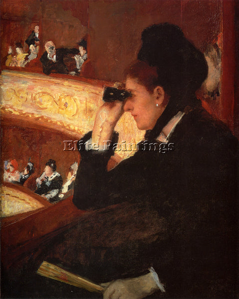 MARY CASSATT AT THE OPERA ARTIST PAINTING REPRODUCTION HANDMADE OIL CANVAS REPRO